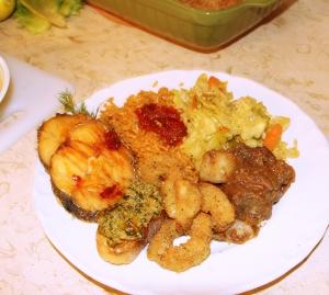 My plate....